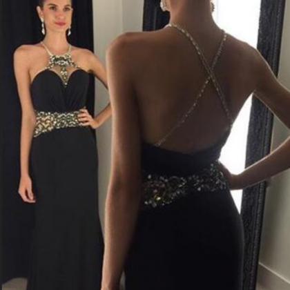 Custom Made Prom Dresses Halter Sl..