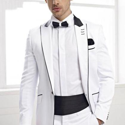 Custom Made Groommen Suit Tuxedos F..