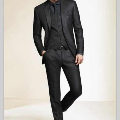Wholesale 2017 Black Slim Fit Custo..