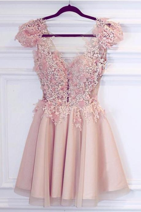 prom dress,pink homecoming dress,short prom dress,chic party dress,elegant dresses,semi formal dress