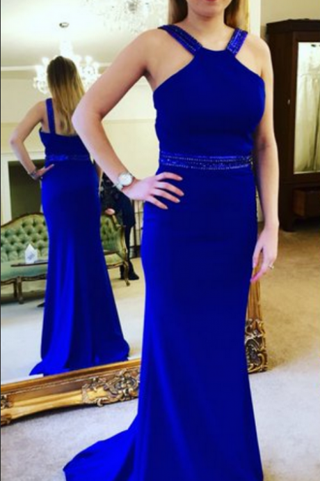 Fashion Royal Blue Prom Dresses Prom Dress Evening Gown Wedding Party Dresses