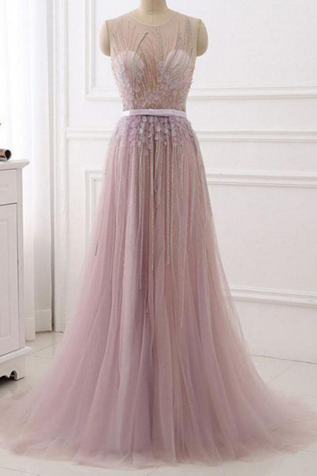 Real Made Beading Elegant Prom Dress,Long Prom Dresses,Prom Dresses,Evening Dress, Evening Dresses,Prom Gowns, Formal Women Dress