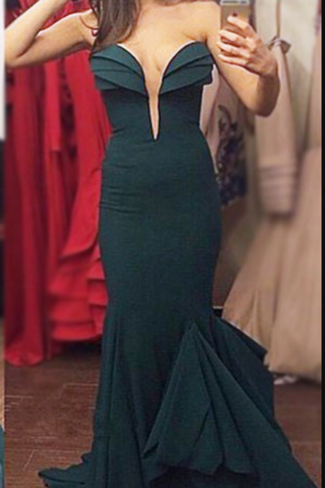 Prom Dresses,Mermaid Dark Green Evening Dress,Sweetheart Prom Dresses,Sexy Party Gown,Long Mermaid Prom Dresses,Sexy Formal Gowns,Evening Dresses for Women