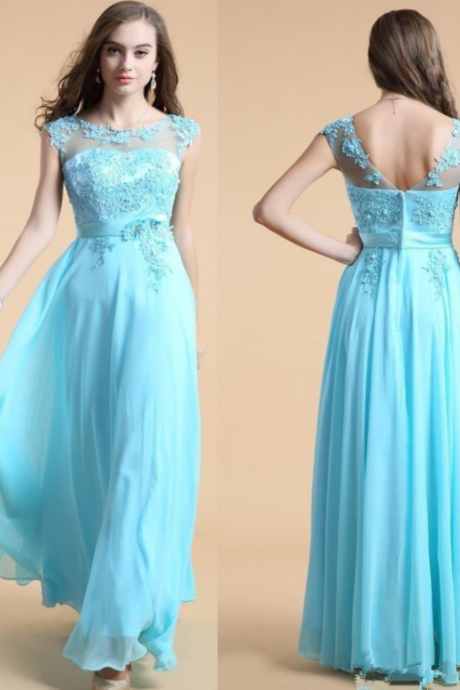 Tiffany Blue Blue Prom Dress, lace Prom Dress,Pretty Dress ,Cheap Prom Dress