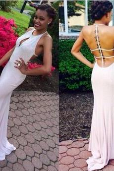 Sexy Backless Floor-Length Charming Prom Dresses,Sheath Beading Floor-Length Evening Dresses, Prom Dresses