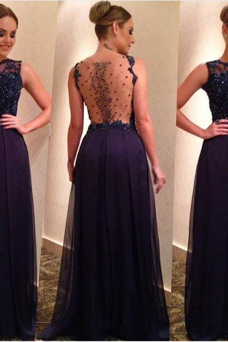 Navy Blue Evening Gowns Evening DRESSES PROM DRESSES