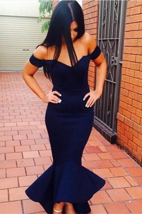 Evening Dress,Ankle Length Evening Dress,Evening Gown,Cap Sleeve Evening Dress,Mermaid Evening Dress,Celebrity Dress,Hot Style Evening Dress