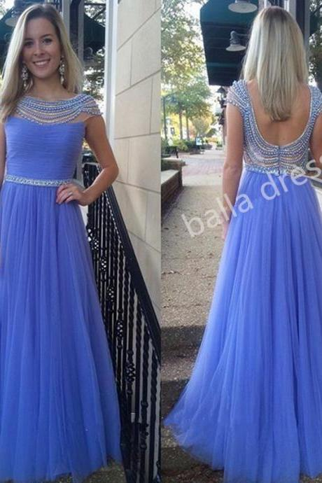 Prom Dress,Charming Prom Gown,Sherri Prom Dress,Beaded Prom Dress,Cap Sleeved Long Prom Dress,Wedding Party Dress,Dress For Wedding Guest, Formal Prom Dress, Dress With Pearls