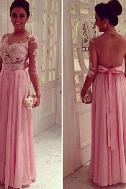 Prom Dresses,Sexy Prom Dresses,Beaded Prom Dresses,Prom Dress With Sleeved,Chiffon Prom Dresses,Sheer Back Prom Dress,Long Prom Dresses,Prom Dresses
