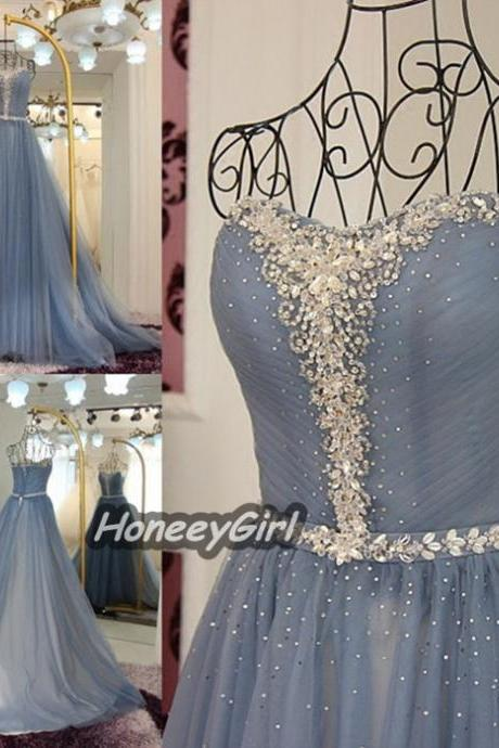 Prom Dresses,Beading Prom Dress,White Prom Gown Prom Gowns,Elegant Evening Dress,Modest Evening Gowns,Party Gowns,Prom Dress