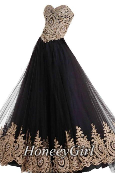 2017 Sweetheart Evening Dress,2016 Newest Prom Dress,Appliques Peacock Patterns Evening Dress, Lace-up Long Evening Dresses