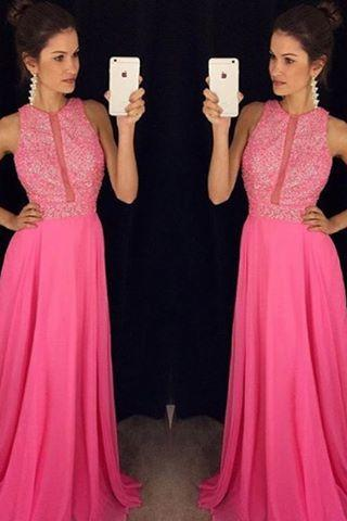 Pink Backless Prom Dresses,Prom Gowns, Pink Prom Dresses 2016, Party Dresses 2016,Long Prom Gown,Prom Dress,Sparkle Evening Gown,Sparkly Party Gowbs