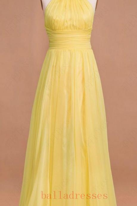 Yellow Prom Dresses,Prom Gown, Evening Dress,Chiffon Prom Dress,Sexy Evening Gowns,Yellow Formal Dress,Wedding Guest Prom Gowns,2016 Evening Gowns