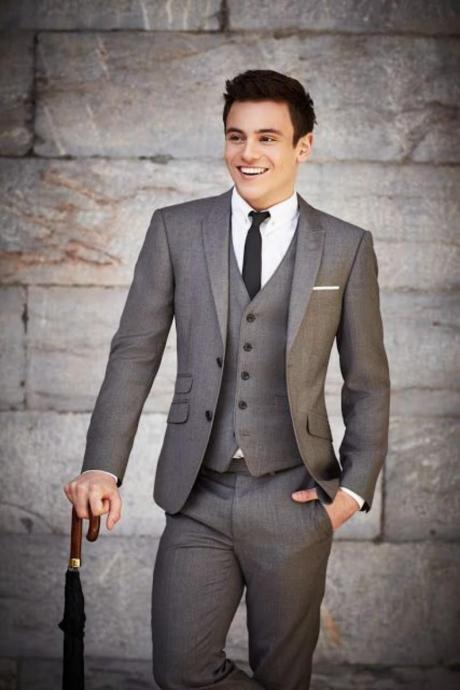 Men Suits Groom Formal Wedding Suits Tuxedo Blazer Suits Jacket+Pants+Vest