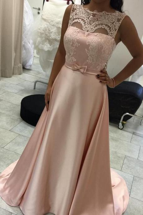 Sexy Prom Dresses,A-Line Sleeveless Lace Long Elegant Evening Dress