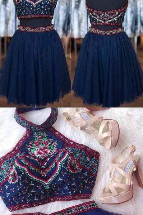 2 Piece Homecoming Dress,Short Homecoming Dresses,Homecoming Dress,Beautiful Prom Gown,2 piece Cocktail Dress