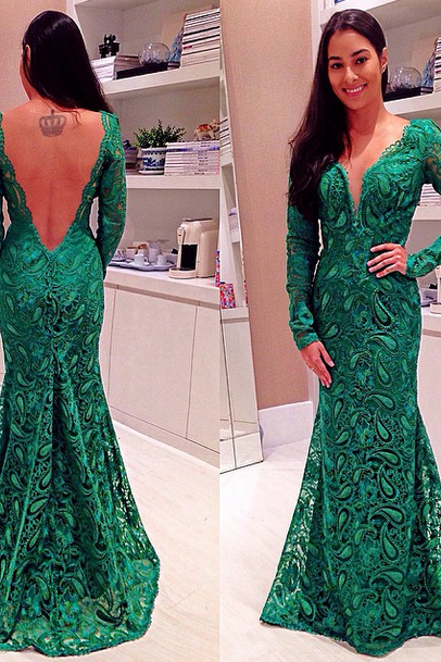 Green Prom Dress,Green Prom Dress,lace Prom Gown,Mermaid Prom Dresses,Sexy Evening Gowns,Cheap Evening Gown,Party Dress,Formal Gowns For Teens
