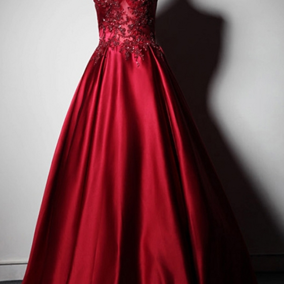 Red lace wearing the high neck of party a's evening standard, the evening dress of the formal dress ball was traded