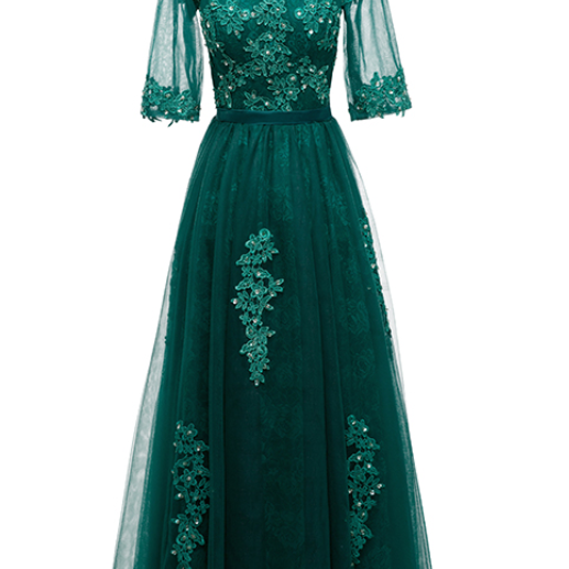 The cheap engagement ring, as the blue-green bride's dress for dubai's long costume party lace dress, is a woman's evening gown