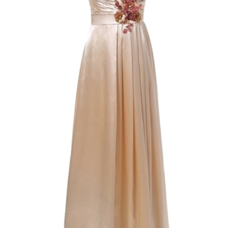 A long, cheap, stylish, long-walking mother's bridal evening gown