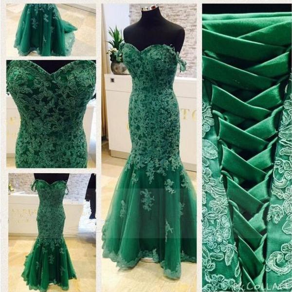 2017 Mermaid Evening Dresses,Sweetheart Evening Dress,Long Evening Dress,Satin Evening Dress, Cheap Evening Dress
