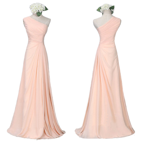 Blush Pink Bridesmaid Gown Pretty Bridesmaid Dresses Blush